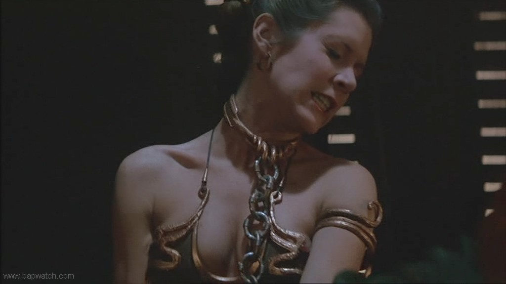 Carrie Fisher Metal Bikini 3