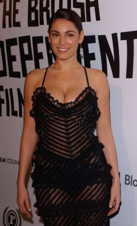 Kelly Brook see through black dress