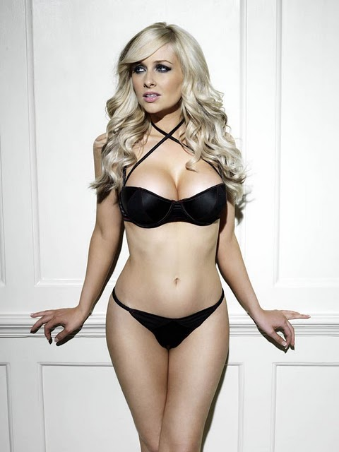 Gemma Merna Sexy Black Bra and Knickers