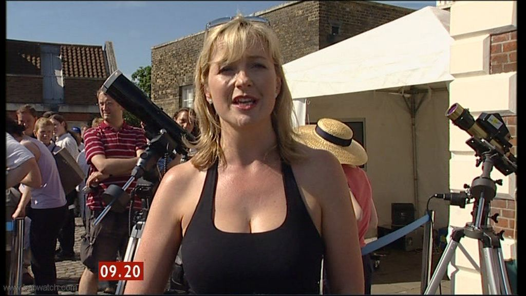 Carol Kirkwood doing the Weather