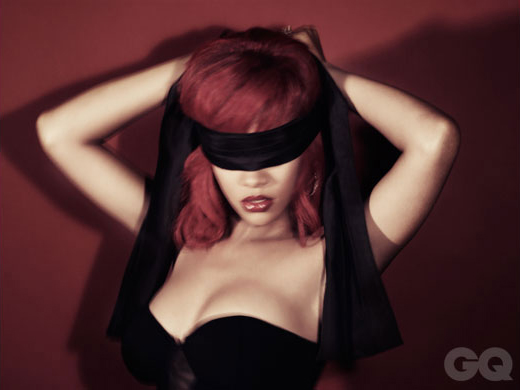 Rihanna Blindfolded in a sexy GQ Shoot