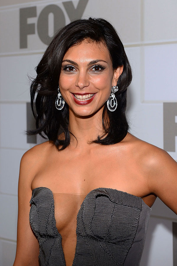 Morena Baccarin Pewter Basil Soda Dress