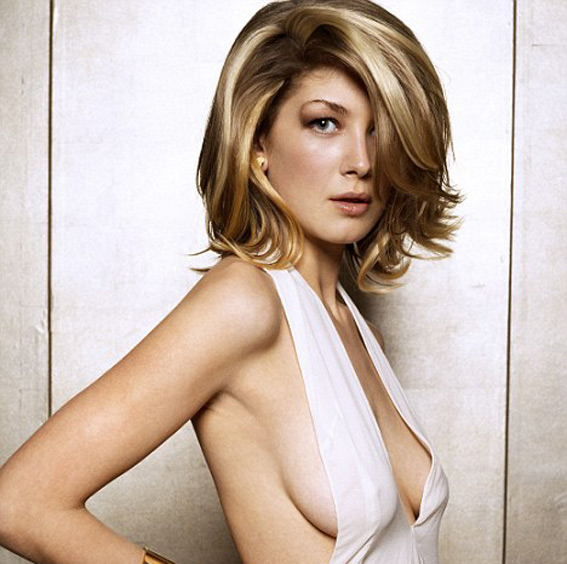 Rosamund Pike White Dress