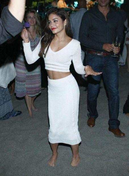 Vanessa Hudgens White Dress in Ischia, Italy