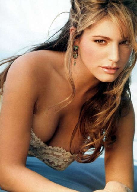 Kelly Brook in a little frilly top