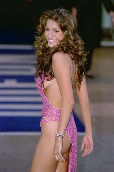 Kelly Brook Pink Dress
