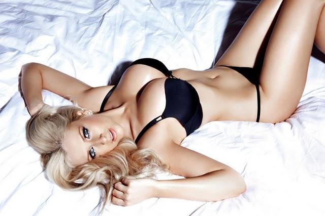 Gemma Merna Bed with Black Underwear