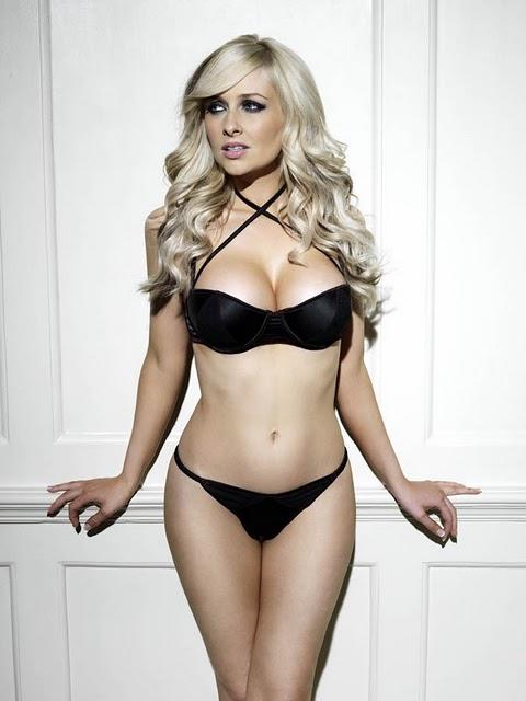 Gemma Merna Sexy Black Bra and Knickers
