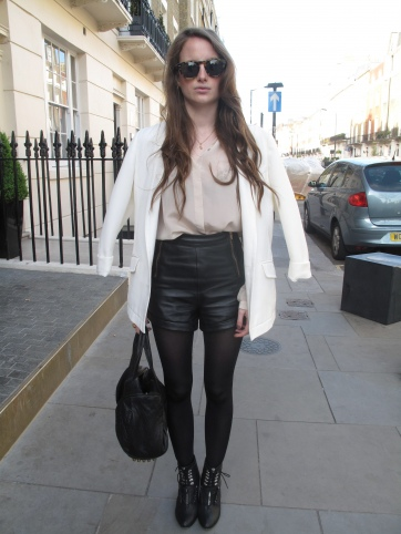 Rosie Fortescue Sunglasses in the street
