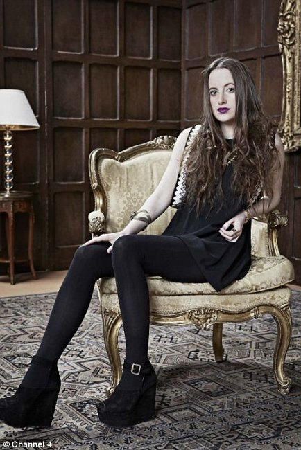 Rosie Fortescue Posing for Made In Chelsea