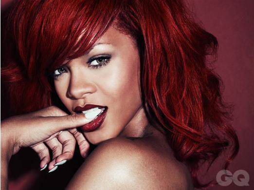 Rihanna Posing for GQ Magazine