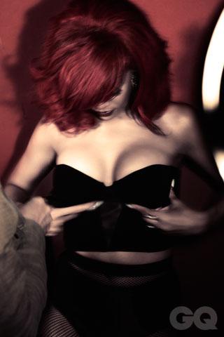 Rihanna in a Little Black Top
