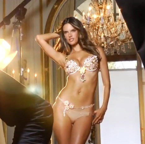 Alessandra Ambrosio Flowery Bikini