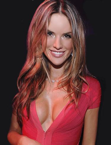 Alessandra Ambrosio Pink Zip Top