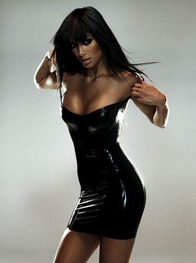 Nicole Scherzinger Black Sexy Dress