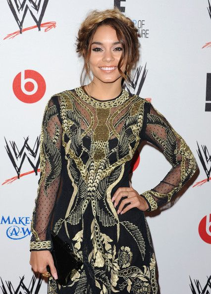 Vanessa Hudgens Black Gold Dress