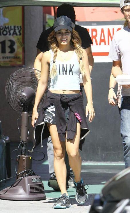 Vanessa Hudgens Shorts, White Top