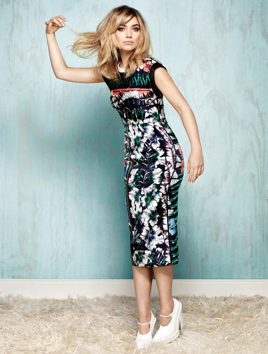 Imogen Poots Flowery Dress